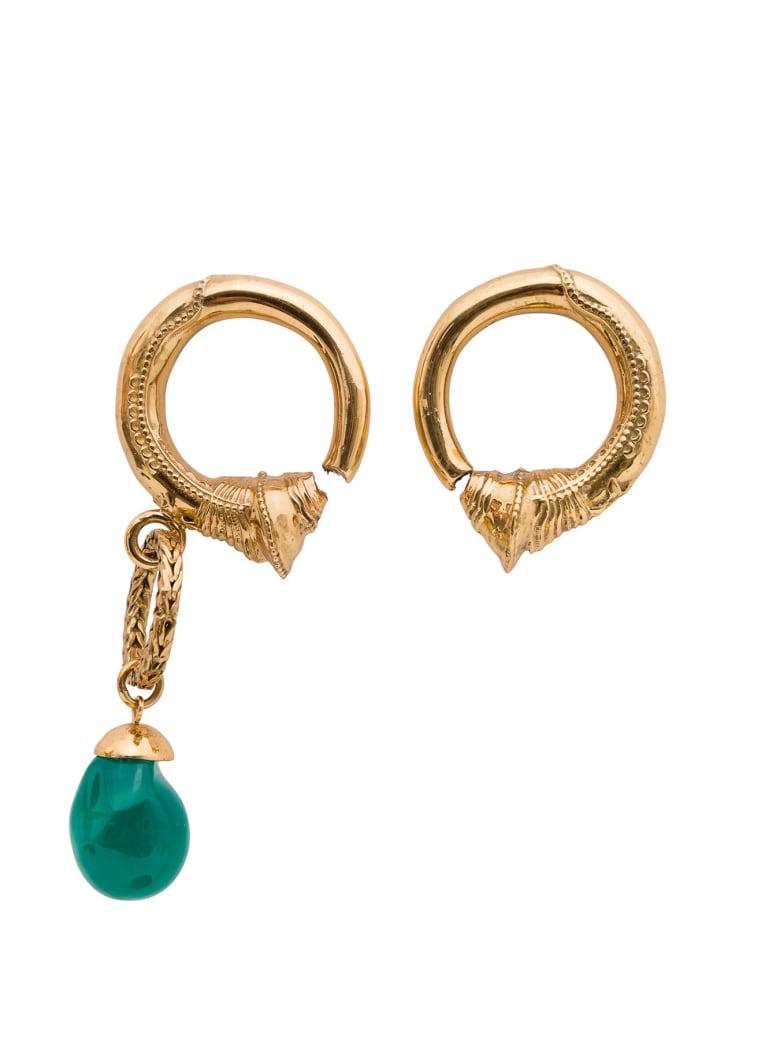 Patou Asymmetric Hoop Earrings - Metallic