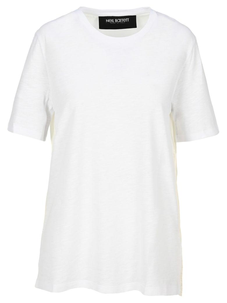 Neil Barrett Panelled Loose-fit T-shirt - WHITE