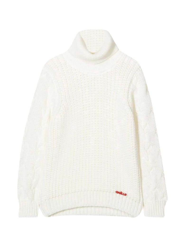 Gaelle Bonheur White Sweater Paris Kids - Bianco