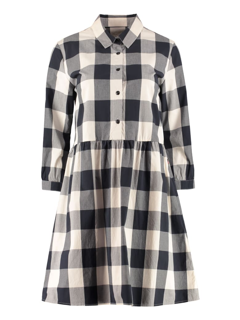 Woolrich Gingham Print Shirtdress - blue