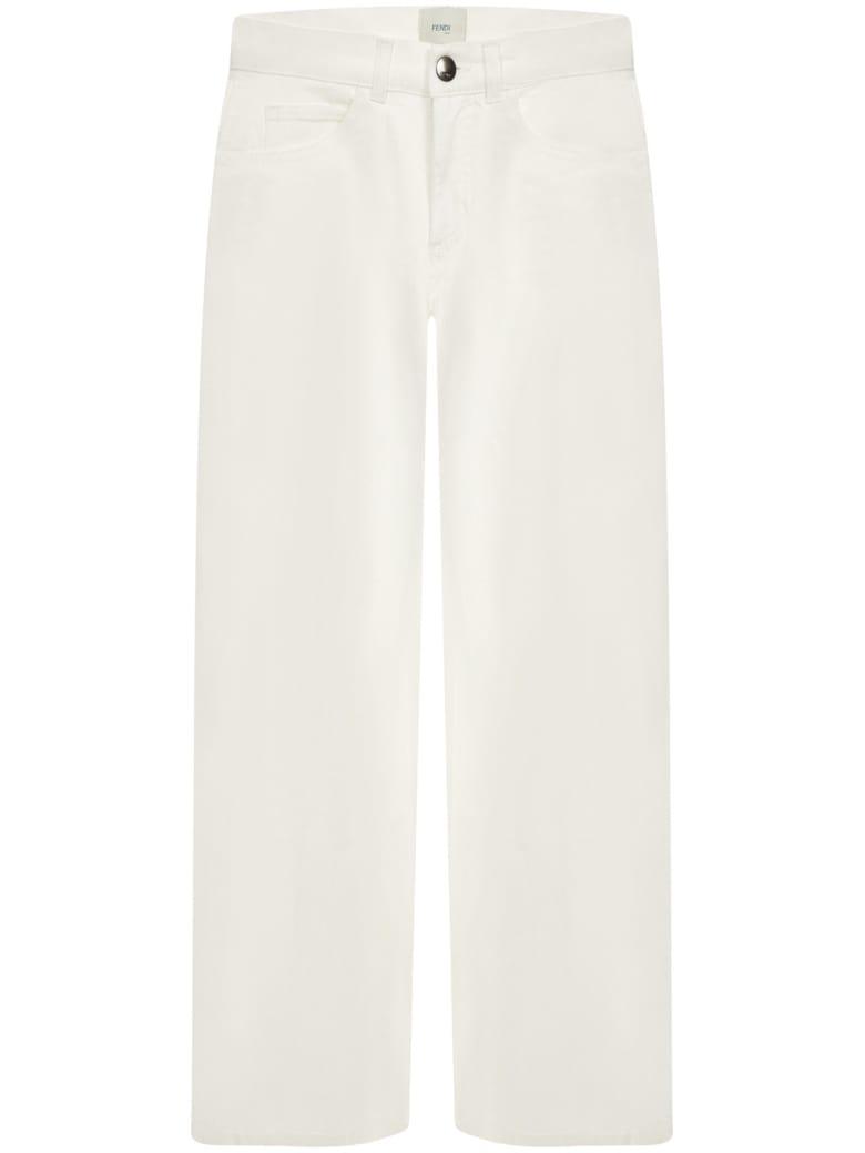 Fendi Kids Jeans - White