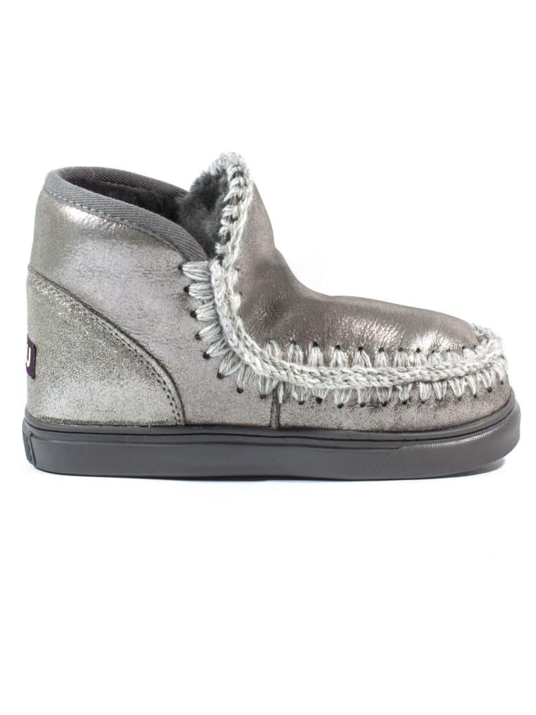 Mou Eskimo Sneaker In Silver Leather - Argento