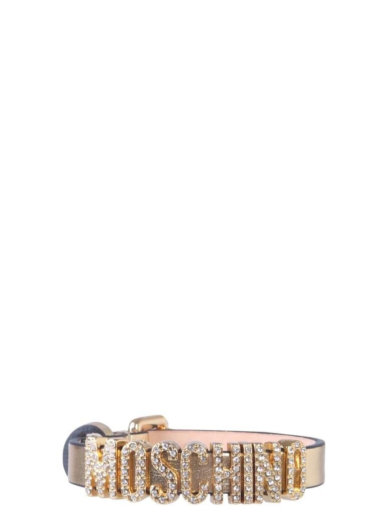 Moschino Leather Bracelet - ORO
