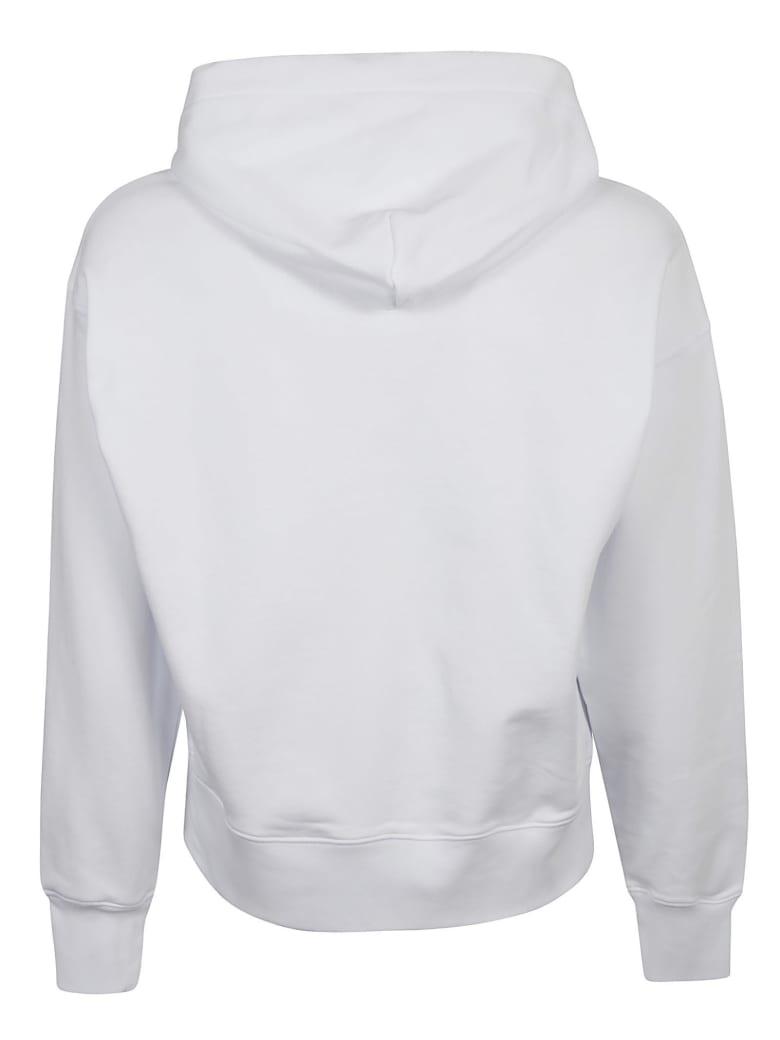 MSGM Milano Logo Hoodie - Bianco