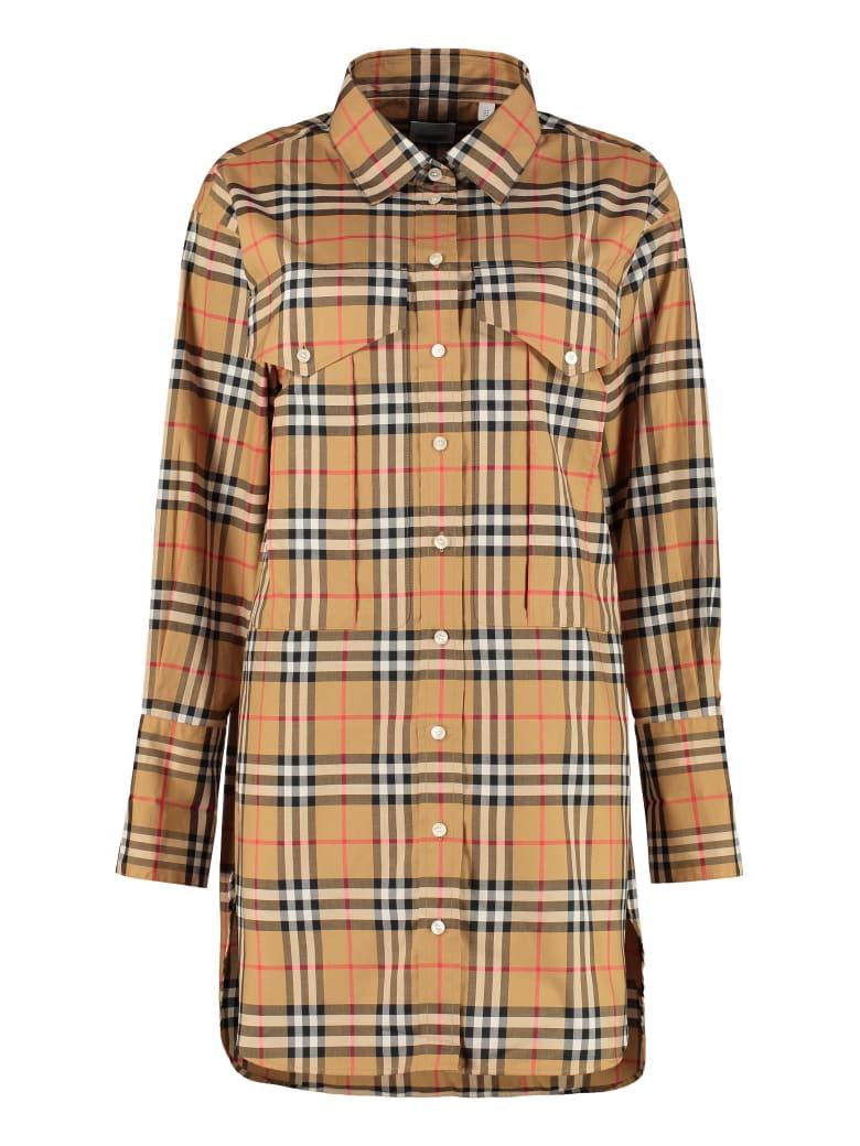 Burberry Printed Cotton Shirt - Beige