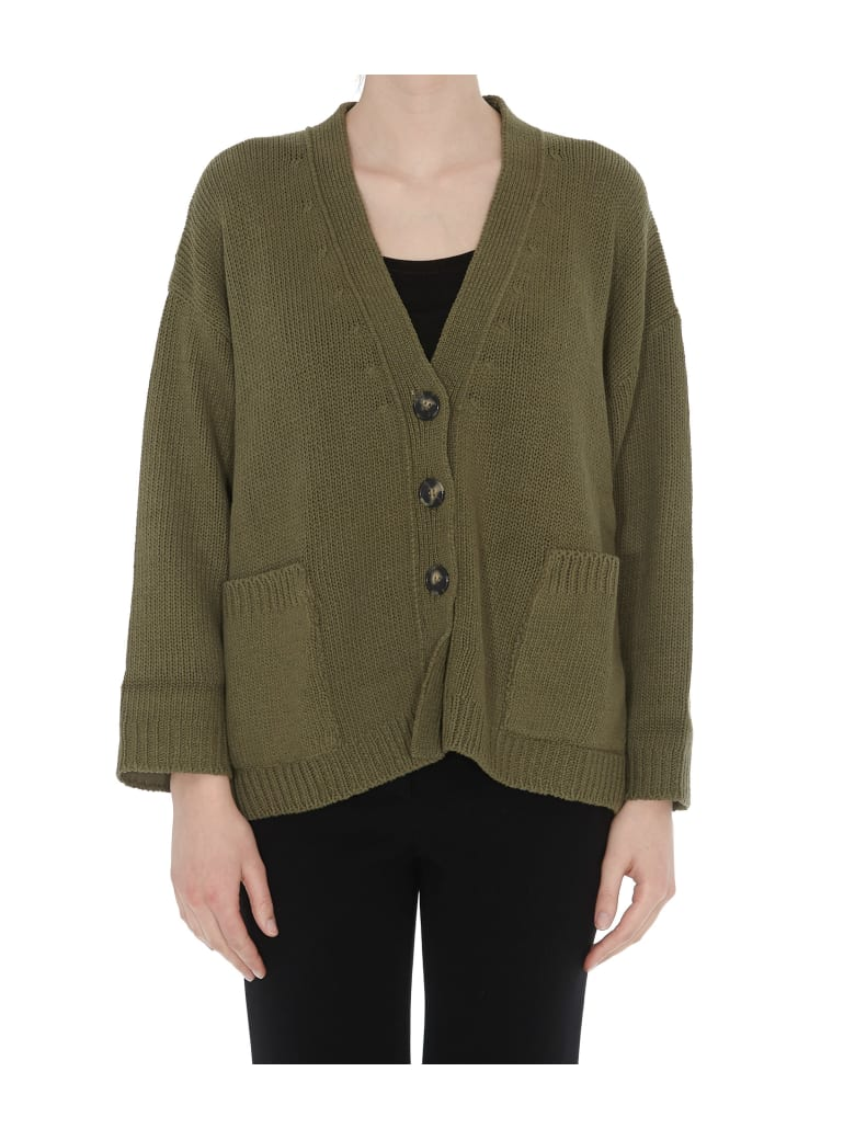 (nude) Knit Cardigan - Military