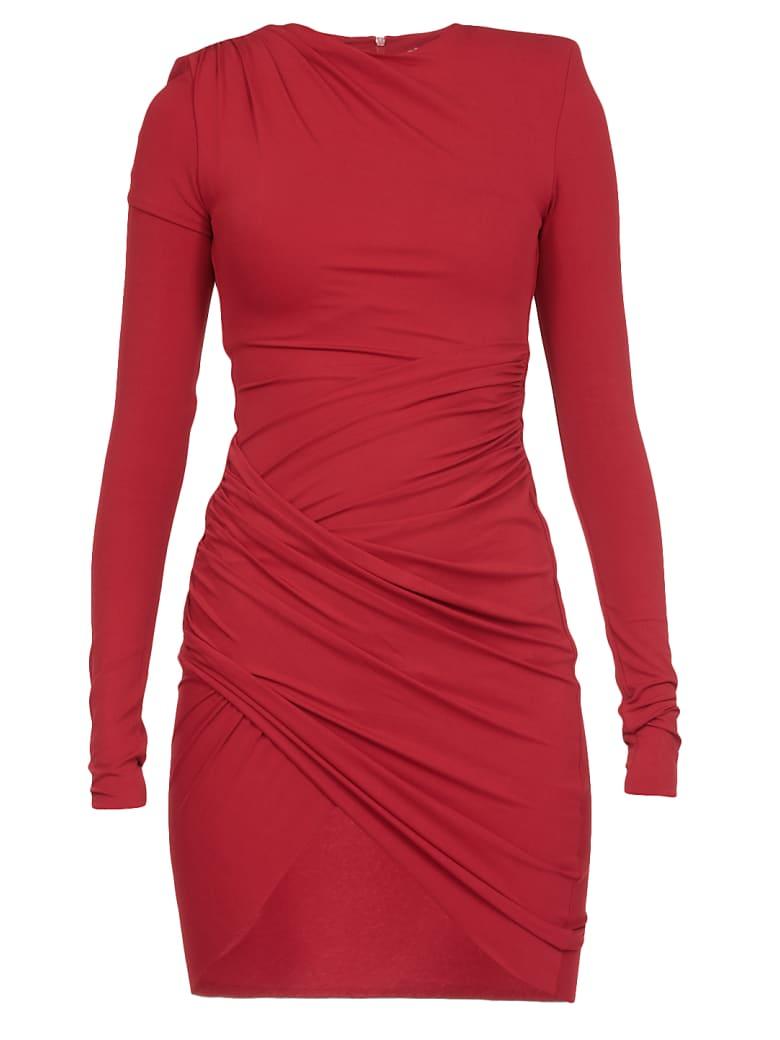 Alexandre Vauthier Draped Mini Dress - RED