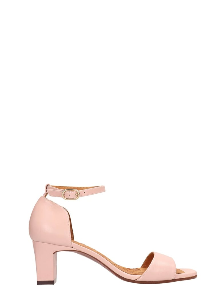 Chie Mihara Pink Leather Lusaka Sandals - powder