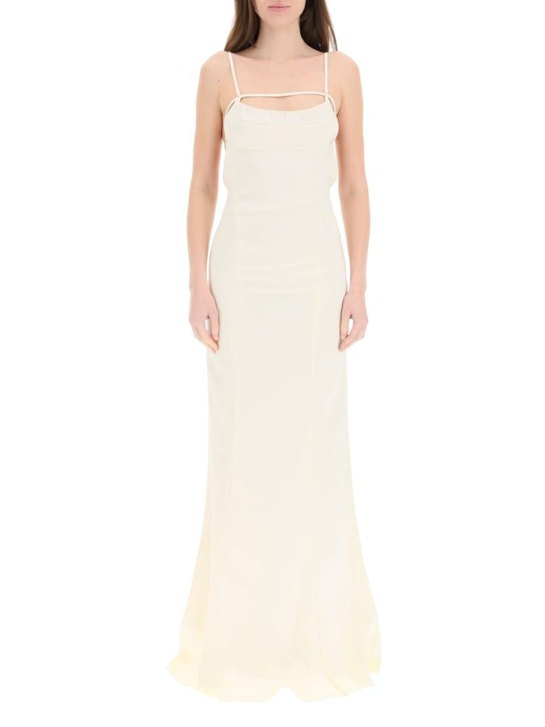 Jacquemus La Robe Novio Long Dress - CHAMPAGNE (Beige)