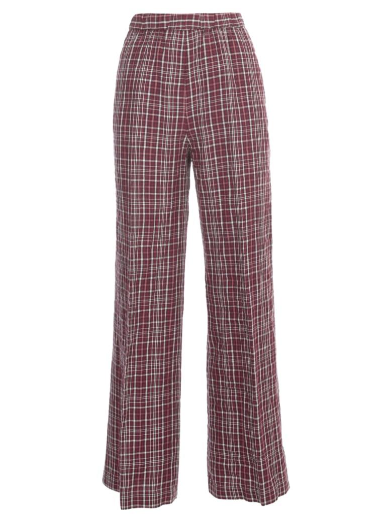 Aspesi Linen Check Pants Elastic Waist - Mora
