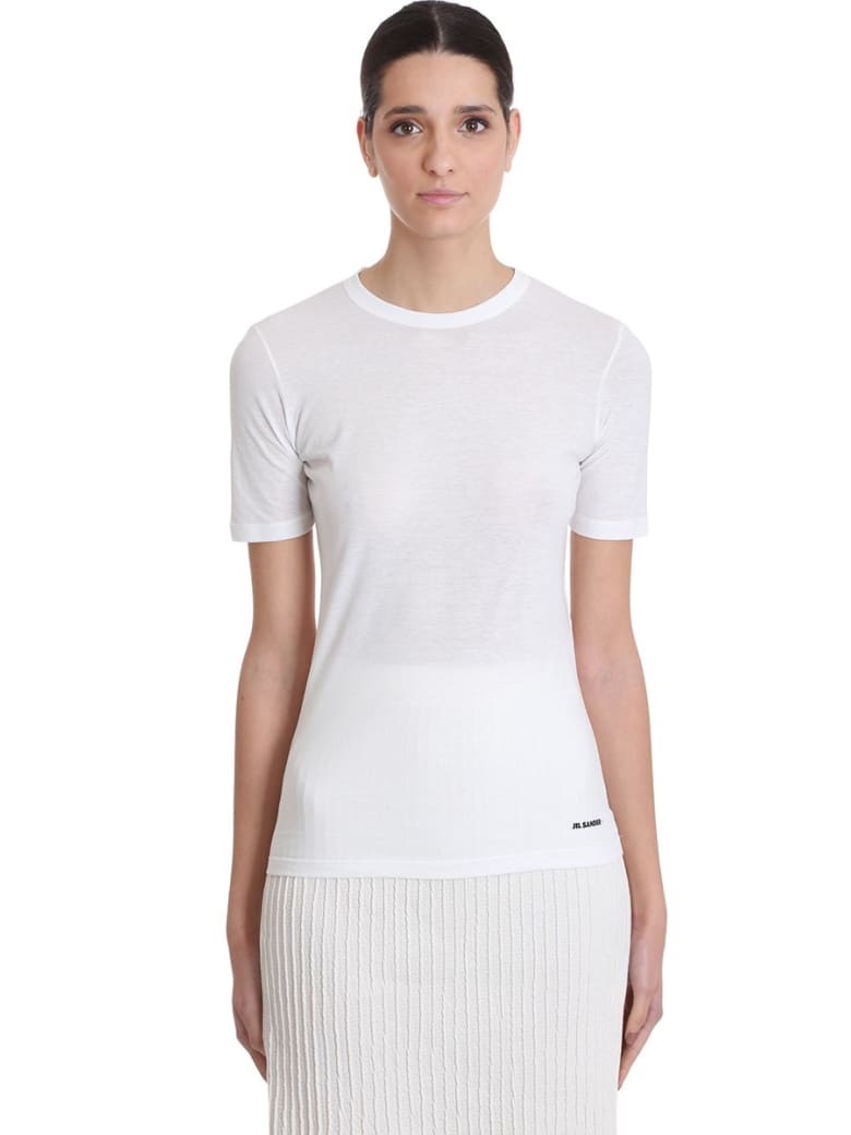 Jil Sander T-shirt In White Cotton - white
