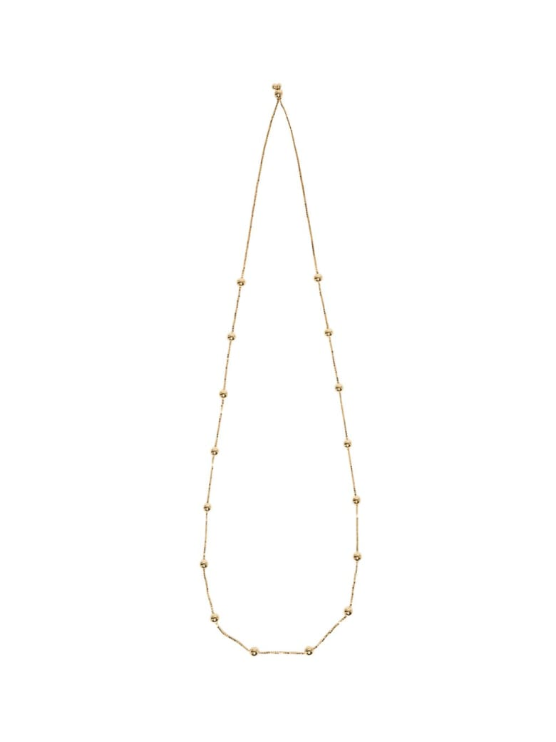 Bottega Veneta Necklace With Gold Plated Silver Spheres - Yellow