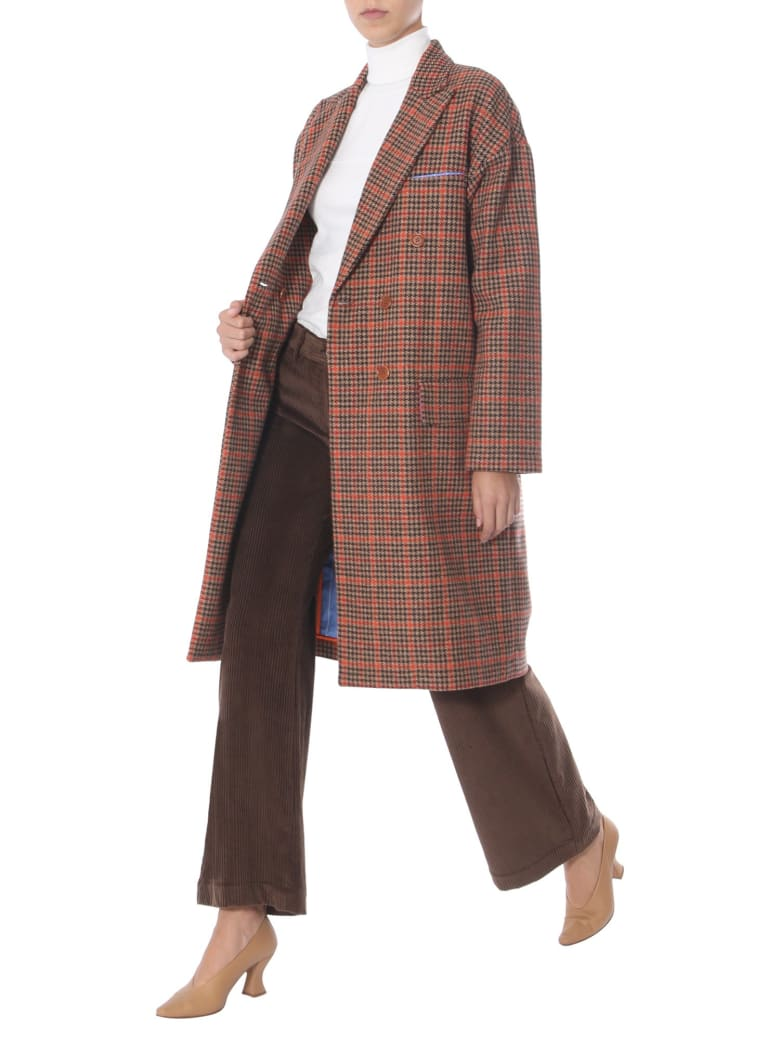 Jejia Double-breasted Coat - MULTICOLOR