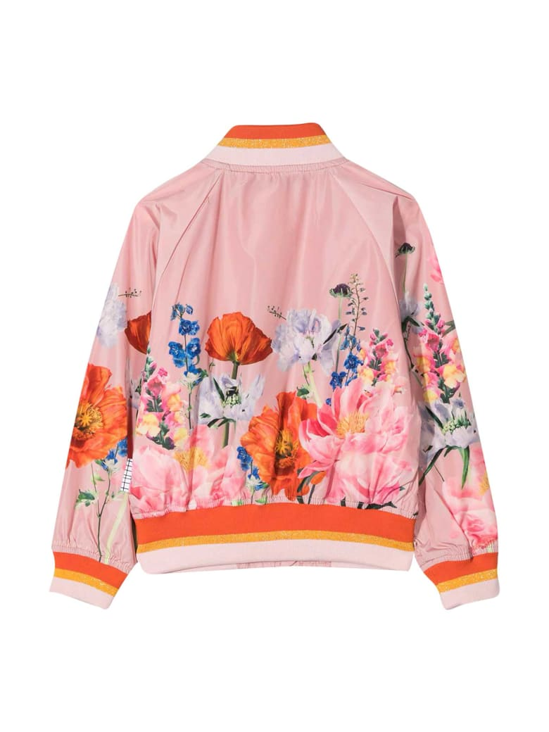 Molo Pink Jacket With Multicolor Print - Pink