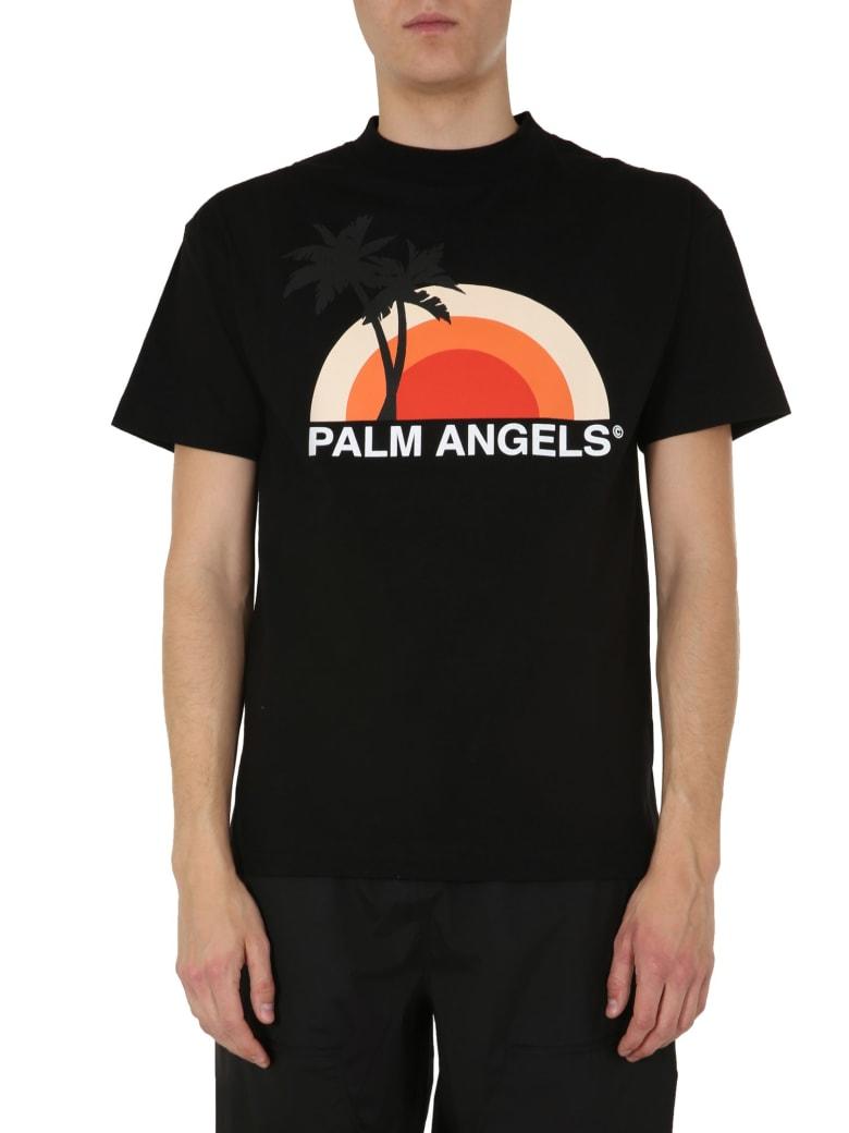 Palm Angels Round Neck T-shirt - NERO