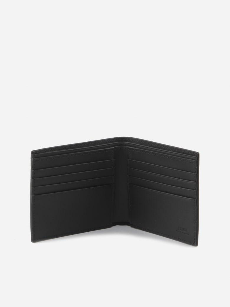 Fendi Bi-fold Wallet In Calfskin - Black
