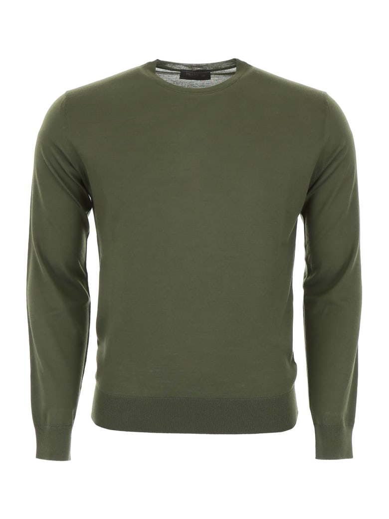 Prada Brushed Wool Pullover - OLIVA (Green)