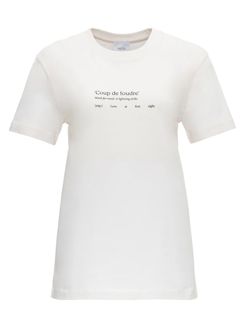 Patou T-shirt With Logo Print - 090b