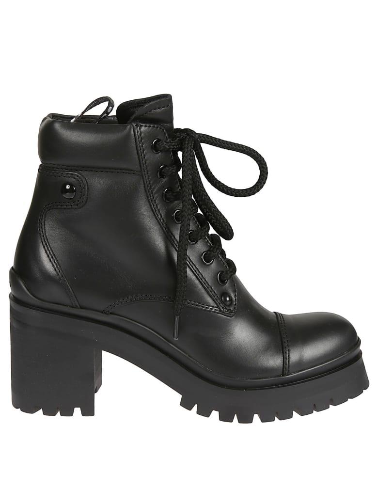 Miu Miu Lace-up Hiking Boots - Nero