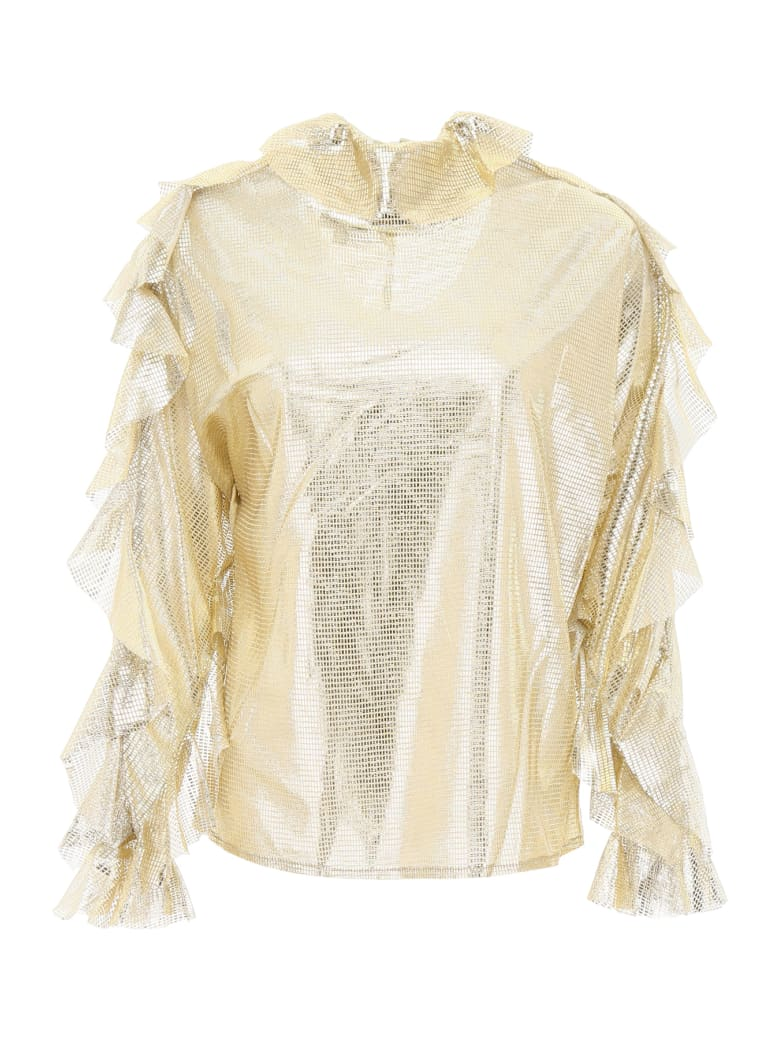 In The Mood For Love Jessica Lamé Blouse - GOLD (Metallic)