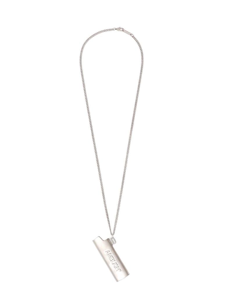 AMBUSH Logo Lighter Case Necklace - Argento