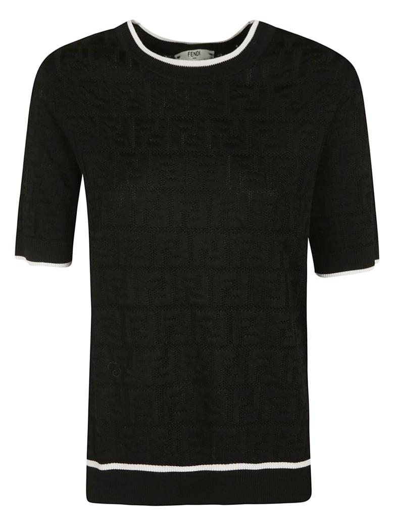 Fendi Outline Pullover - Black