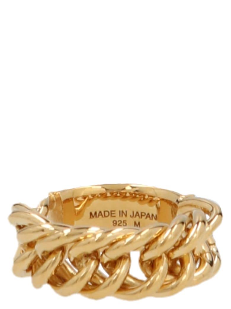 AMBUSH 'chain' Ring - Gold