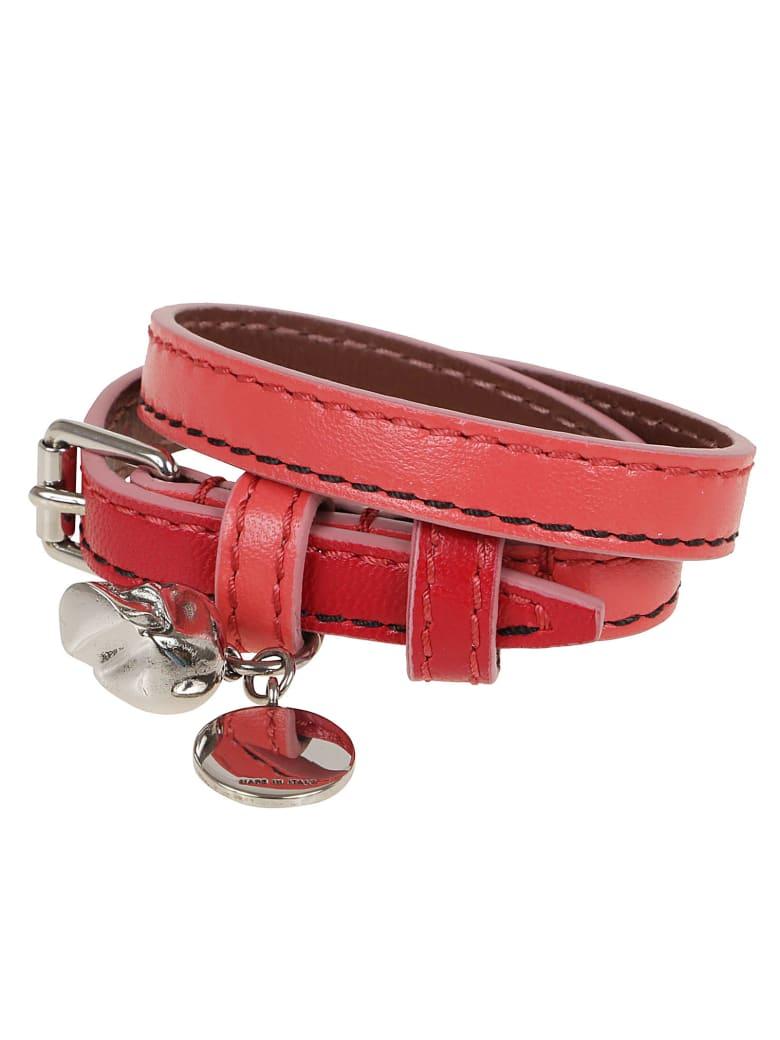 Alexander McQueen Double Wrap Bracele - Bright Pink W Red