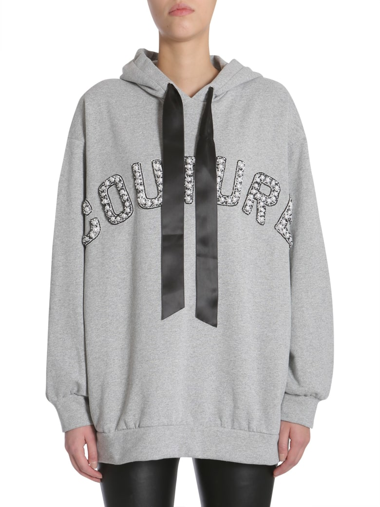 Forte Couture Oversized Hooded Sweatshirt - GRIGIO