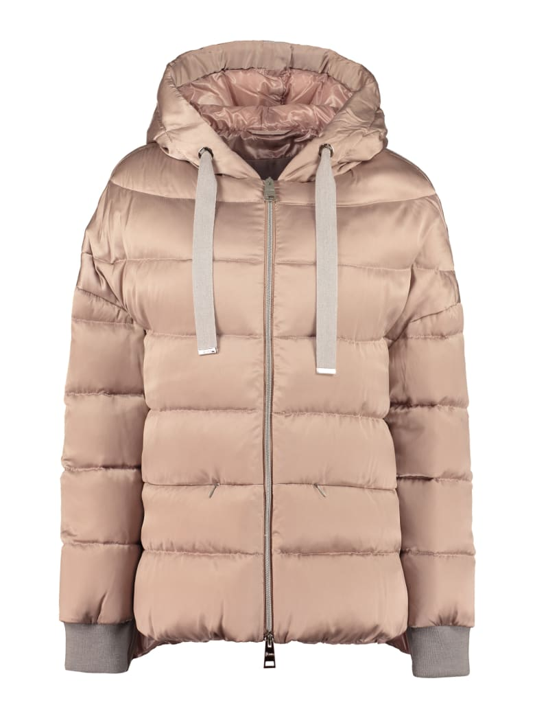 Herno Full Zip Padded Jacket - Pale pink