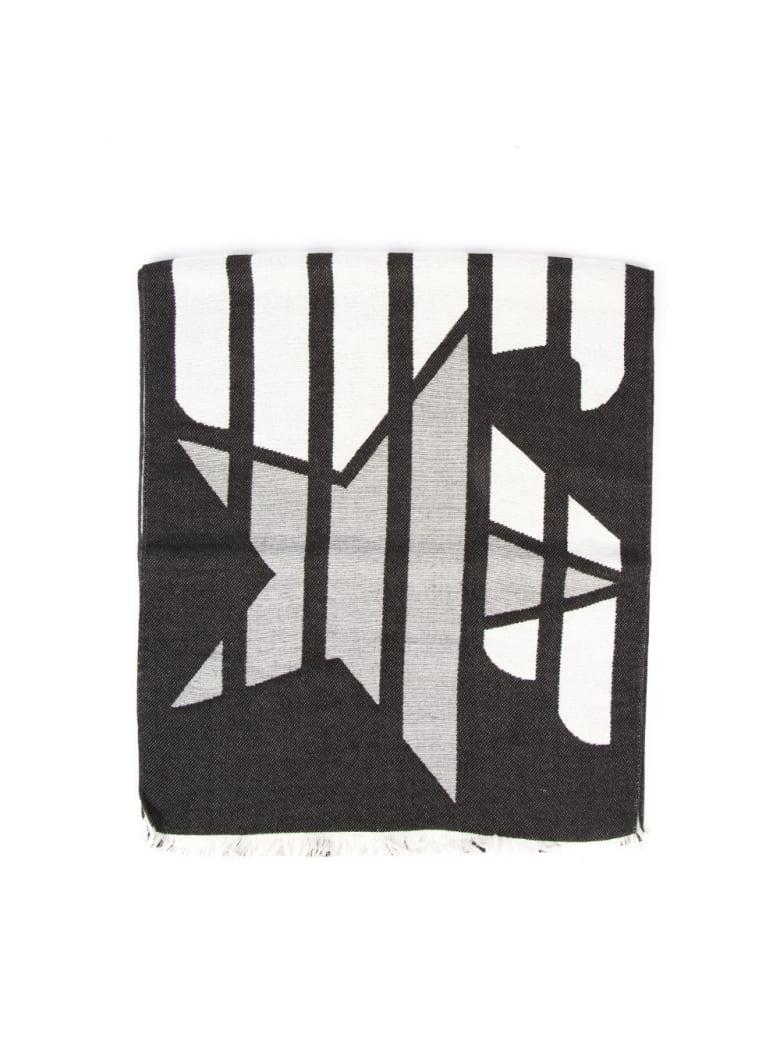 Emporio Armani Emporio Armani Stripes Black Scarf - Black/white