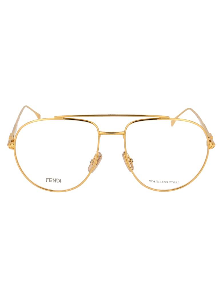 Fendi Ff 0446 Glasses - 001 YELLOW GOLD