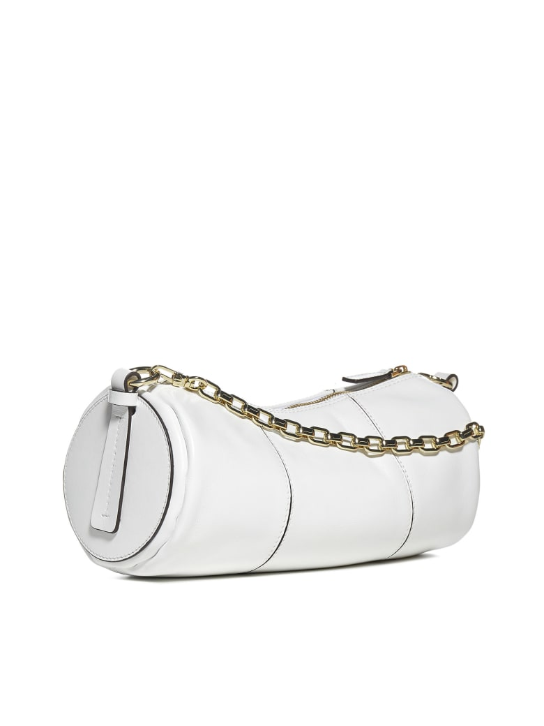MANU Atelier Cylinder Leather Bag - White