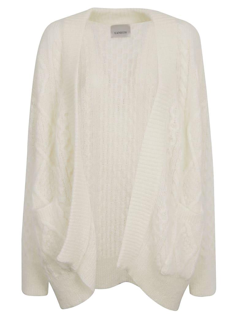 Laneus Knitted Open Cardigan - Panna