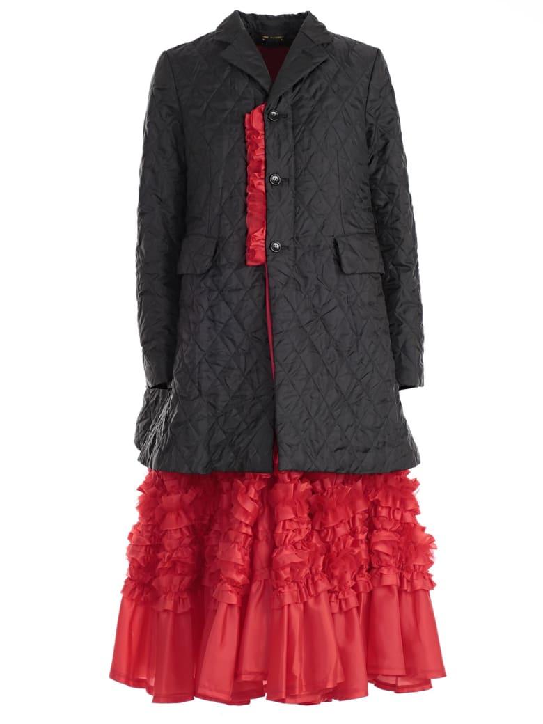 Comme des Garçons Quilted Coat - Black Red