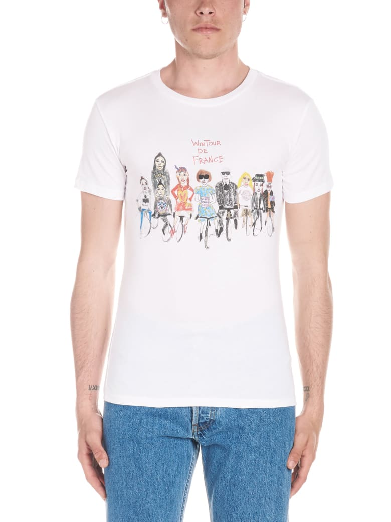 Unfortunate Portrait 'wintour De France' T-shirt - White