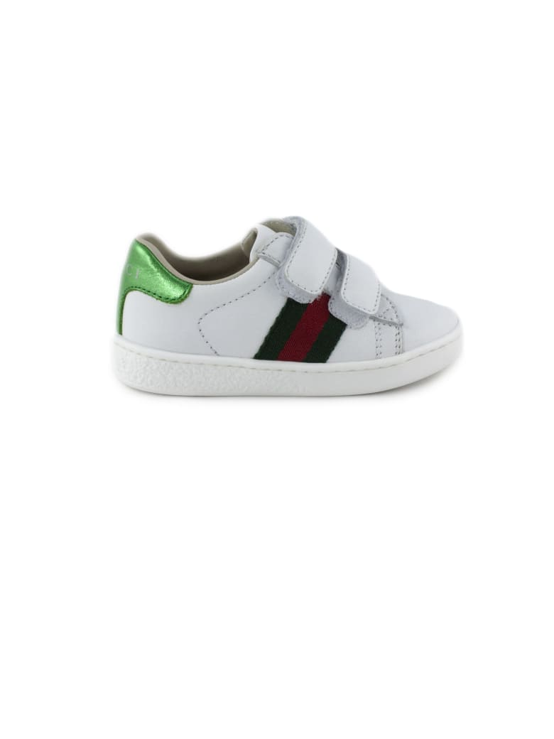 Gucci Ace White Leather Sneaker - Bianco