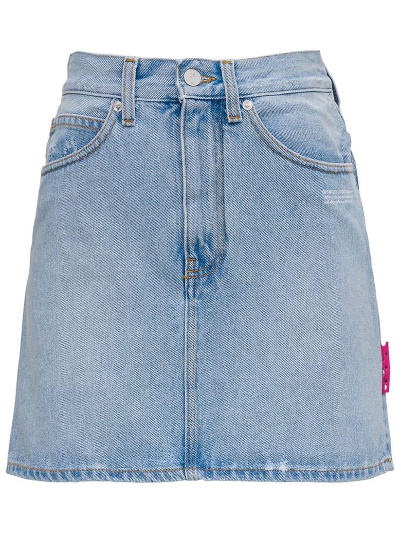 Off-White Five-pocket Denim Skirt - Light blue
