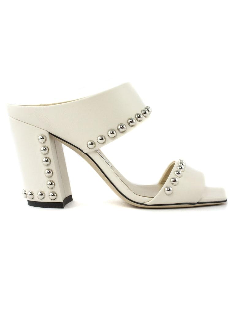 Jimmy Choo White Nappa Leather Sandal - Panna