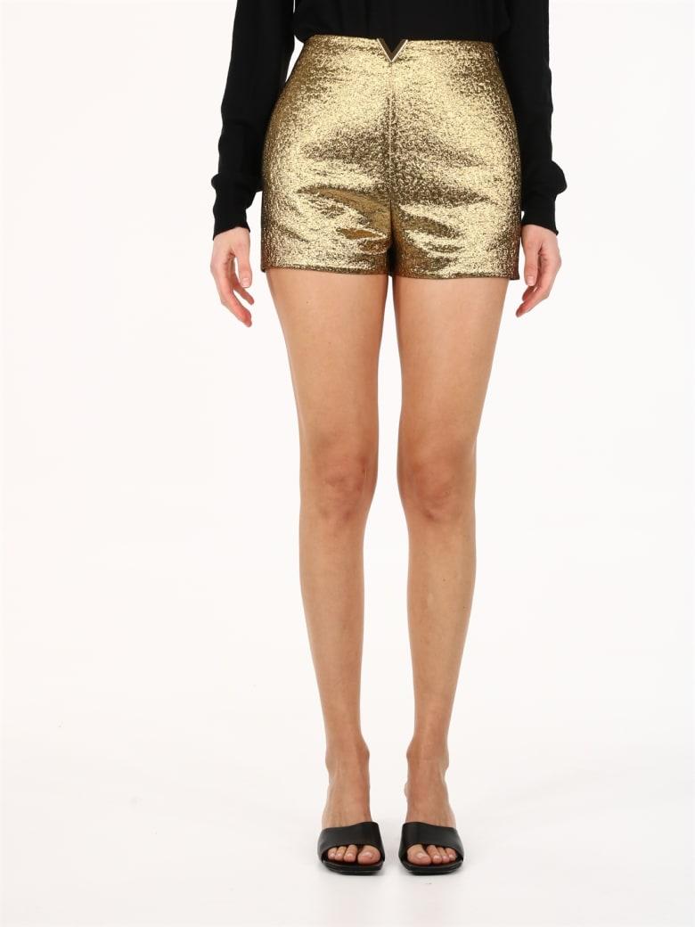 Valentino Gold Shorts - Gold