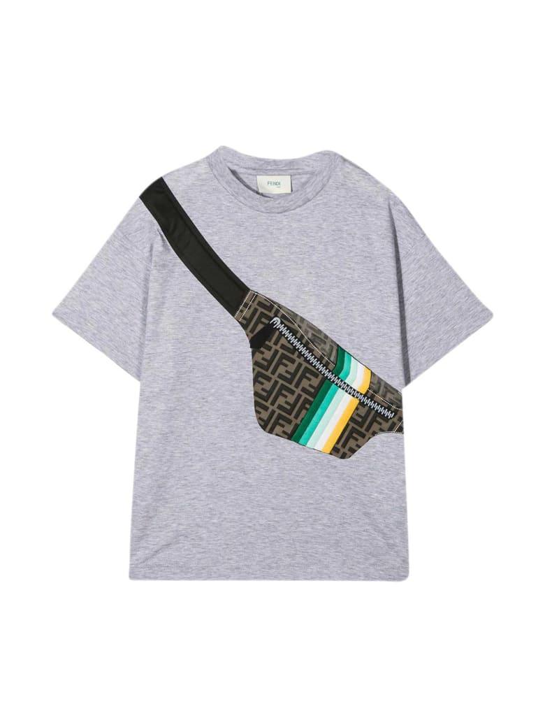 Fendi Gray T-shirt - Melange