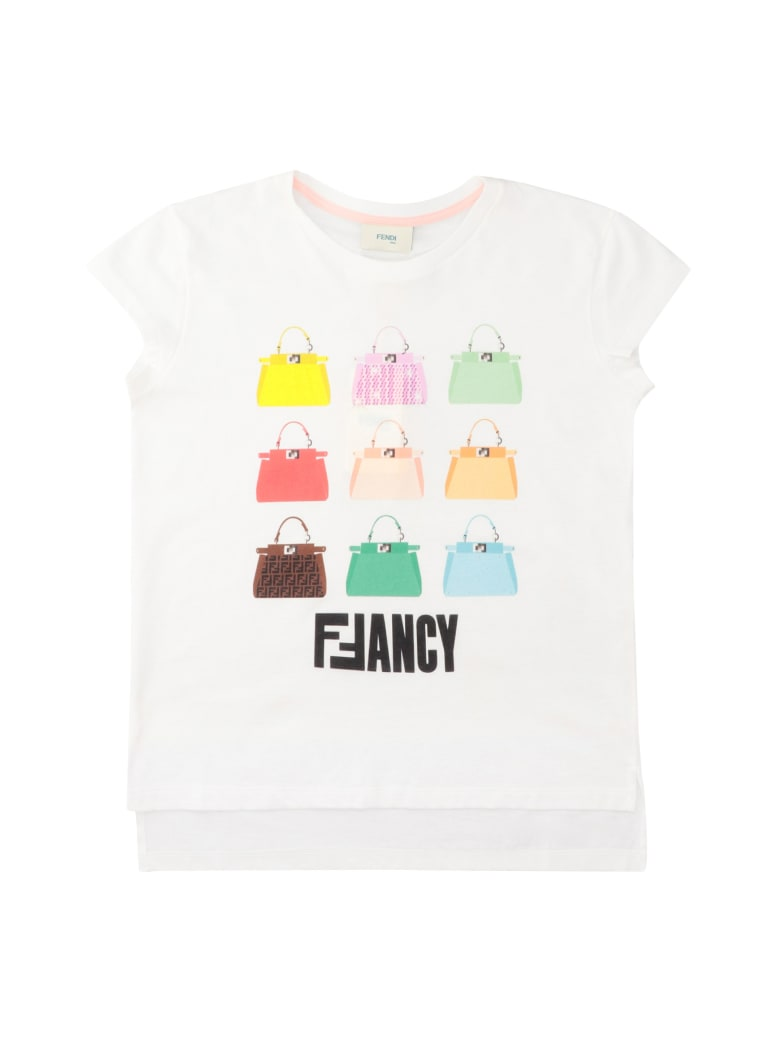 Fendi Printed Cotton T-shirt - White