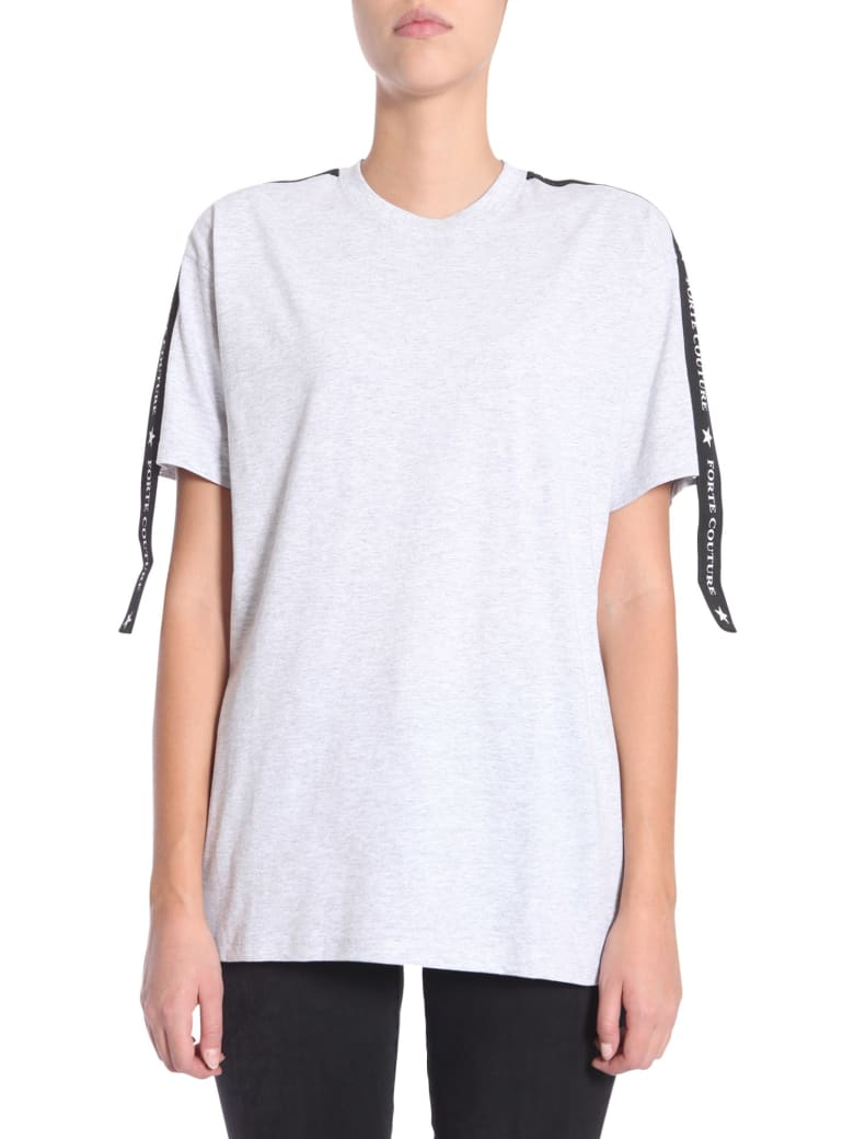 Forte Couture Cropped T-shirt - GRIGIO