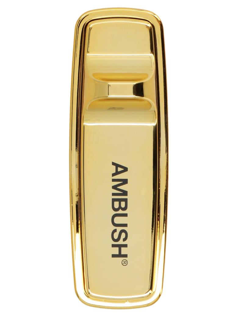 AMBUSH 'security Tag' Pin - Gold