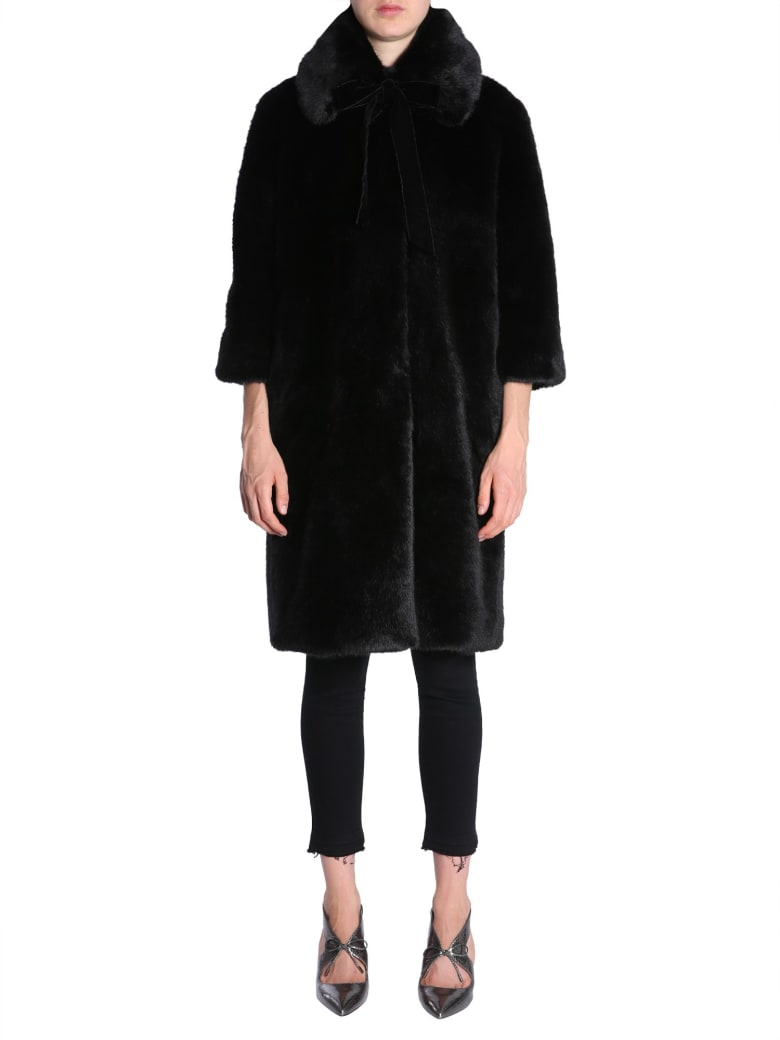 Ainea Eco Fur Coat - NERO
