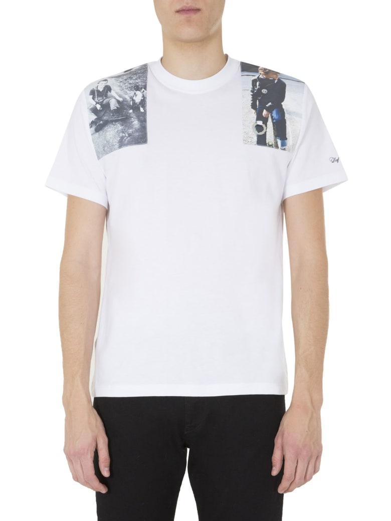 Fred Perry by Raf Simons Oversize Fit T-shirt - BIANCO