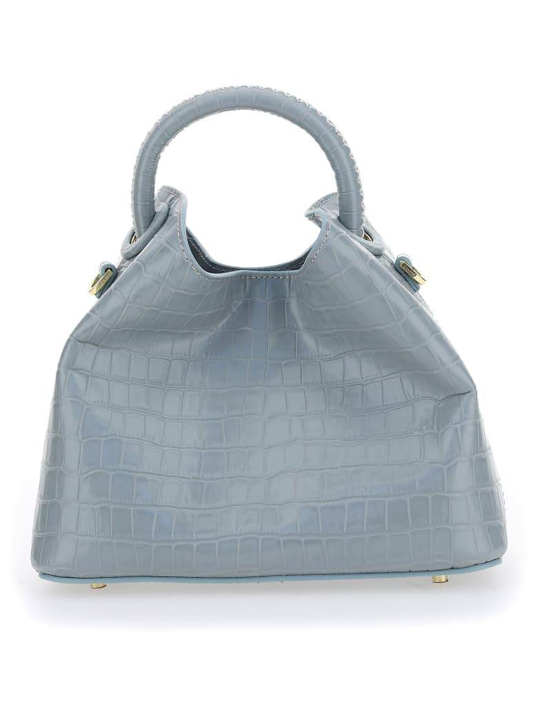 Elleme Handbag - Croco blue