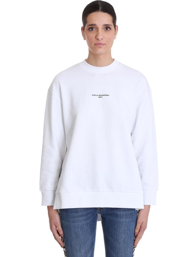 Stella McCartney Sweatshirt In White Cotton - white