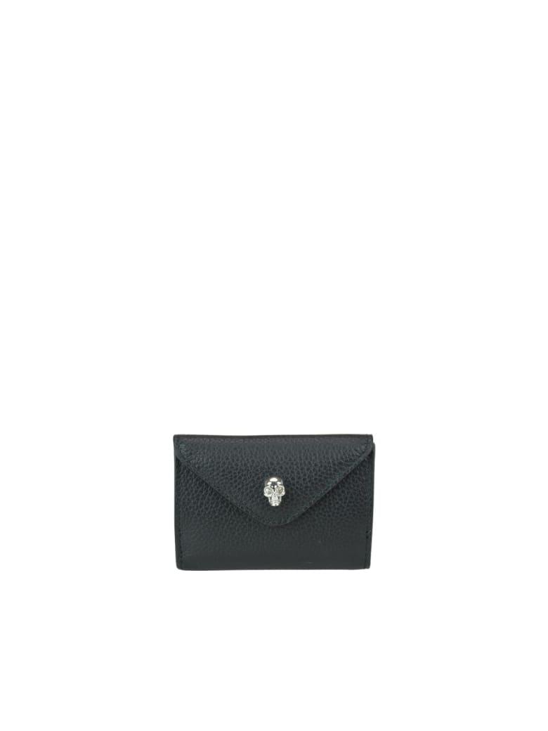 Alexander McQueen Mini Skull Coin Wallet - Black
