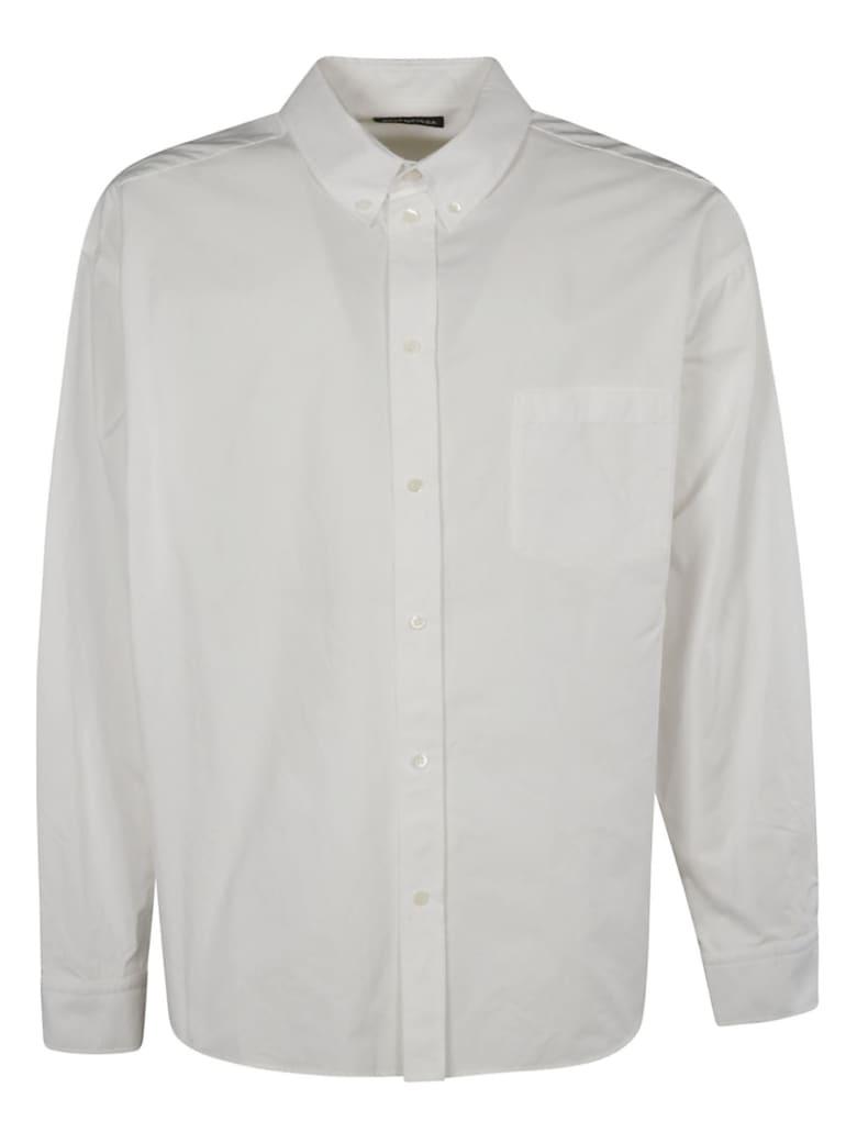 Balenciaga Back Logo Print Long-sleeved Shirt - Bianco